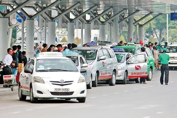 Taxis am Flughafen Tan Son Nhat