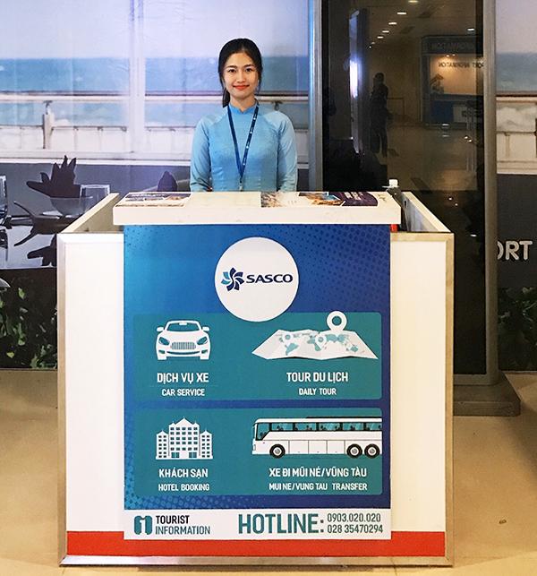 Quầy dịch vụ SASCO Travel tại sân bay Tân Sơn Nhất